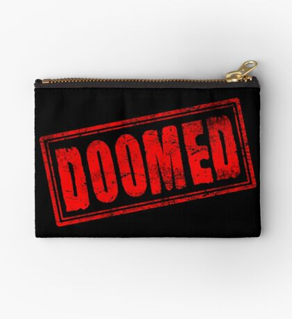 Doomed (Vintage Stamp) Zipper Pouch