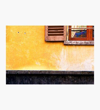 Yellow wall :: Window Photographic Print