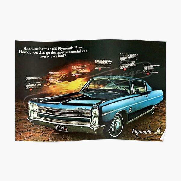 NOS 1964 Plymouth Sport Fury 426 Art Picture Print Dealer Advertising MOPAR