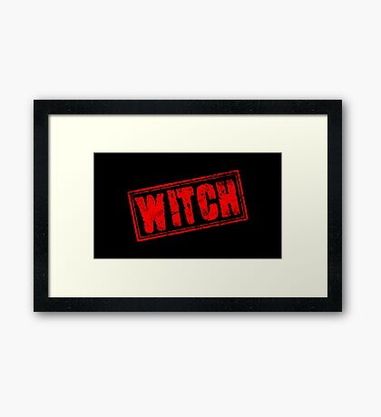 Witch (Vintage Stamp) Framed Print