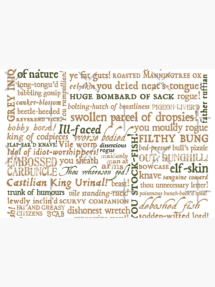 Shakespeare's Insults Collection - Revised Edition (by incognita) by incognitagal