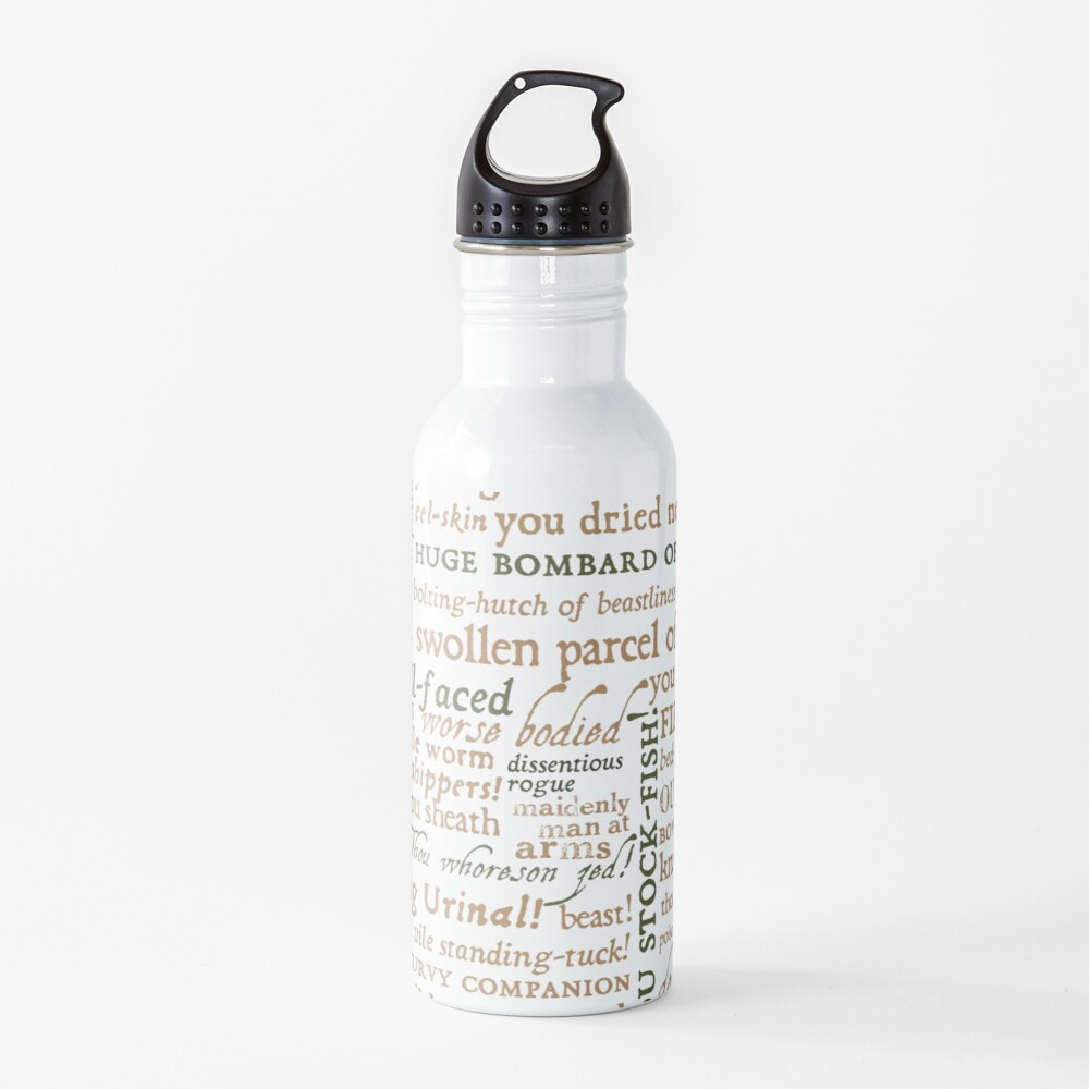 Shakespeare's Insults Collection - Revised Edition (by incognita) Water Bottle