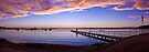 Belmont sunset panorama by Liz Percival