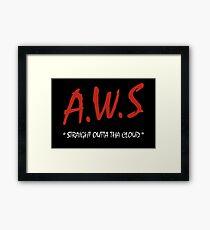 AWS - Straight Outta Tha Cloud Developer t-shirt Framed Print