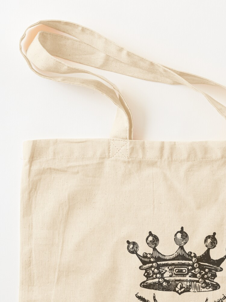 Alternate view of Queen Bee | Vintage Honey Bees | Black and White |  Tote Bag