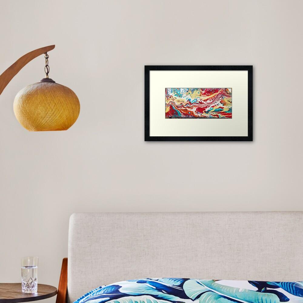 Acrylic Painting Desert Landscape Framed Art Print