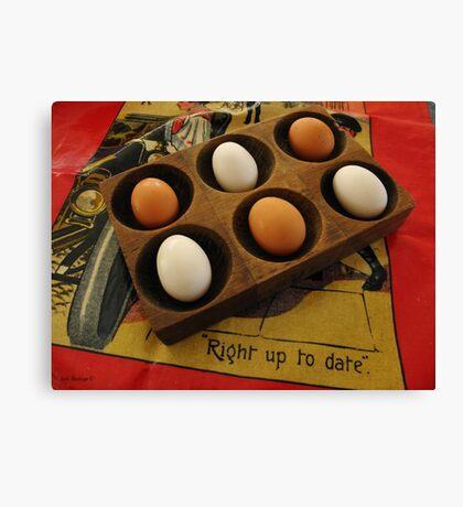 Eggs Taking it Easy Canvas Print