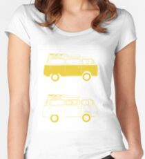 Camiseta entallada de cuello ancho yellow furgo