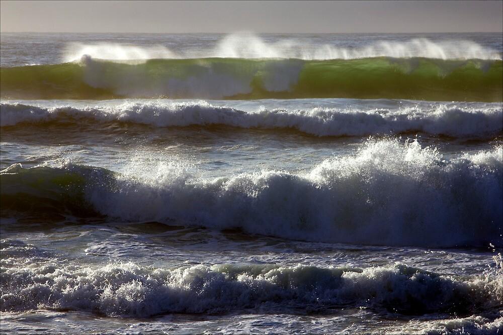 Rolling surf, Friendly Beaches, Tasmania by pfleur