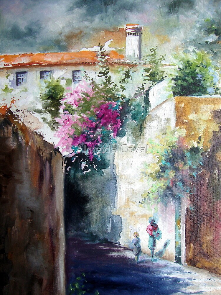 study of watercolour finished with oil.. by Almeida Coval