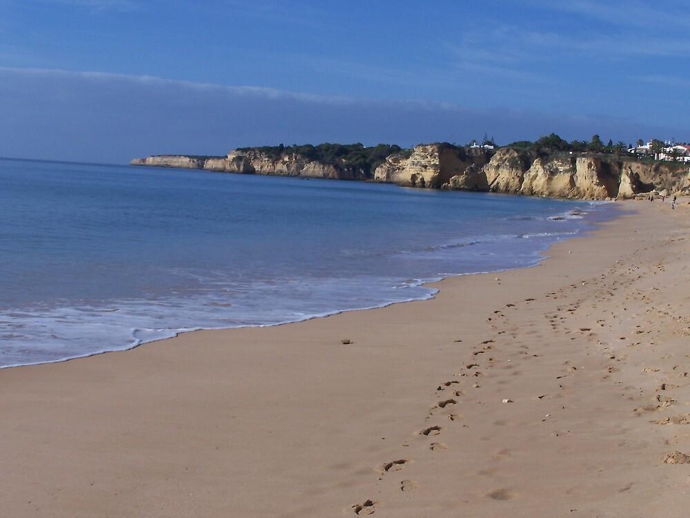 Empty beach, Amacao de Pera, Portugal by bob5419