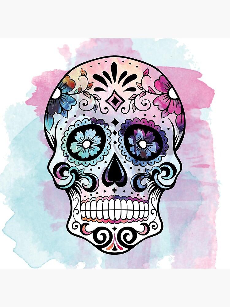 Watercolor Sugar skull by SouthPrints