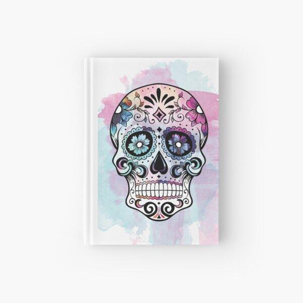 Watercolor Sugar skull Hardcover Journal