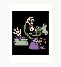 Zombie cook tastes the soup Art Print
