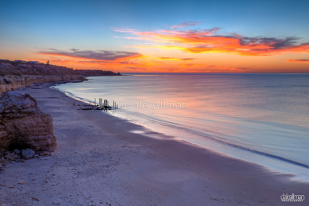 Sunset at Pt Willunga by Dale Allman