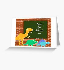 Back to School Cute Dinosaurs for Kids Greeting Card