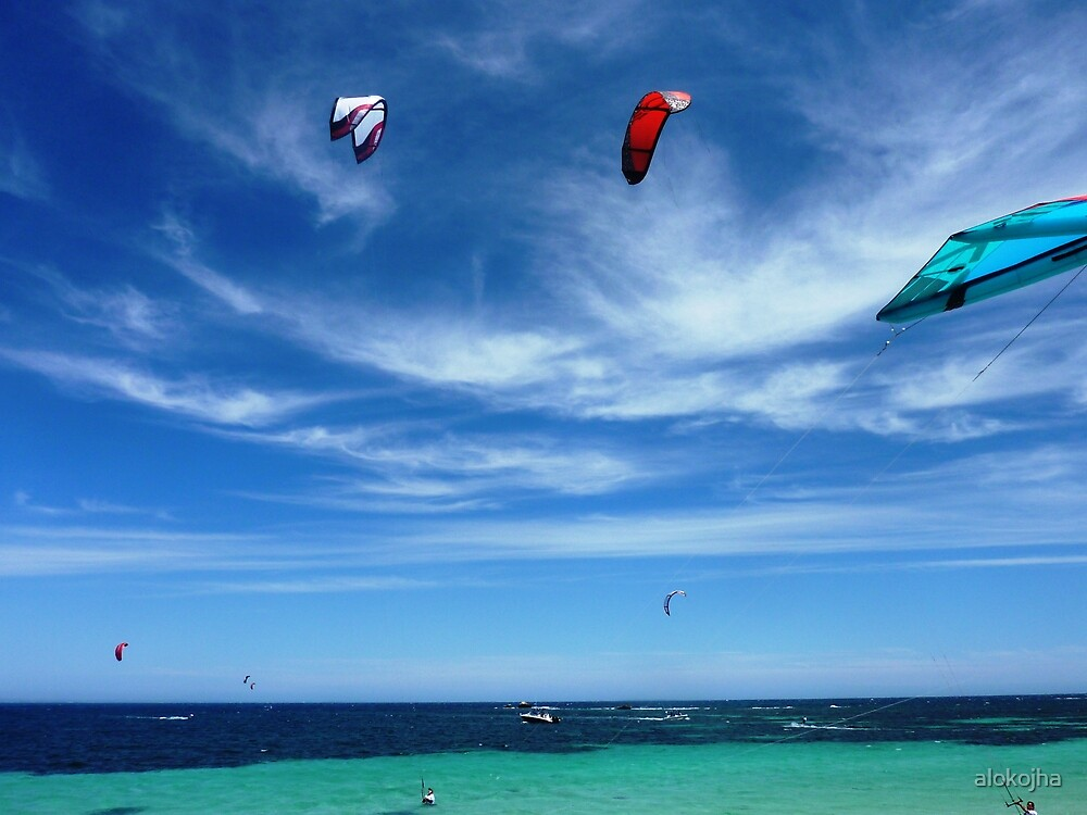 Kite surfing by alokojha