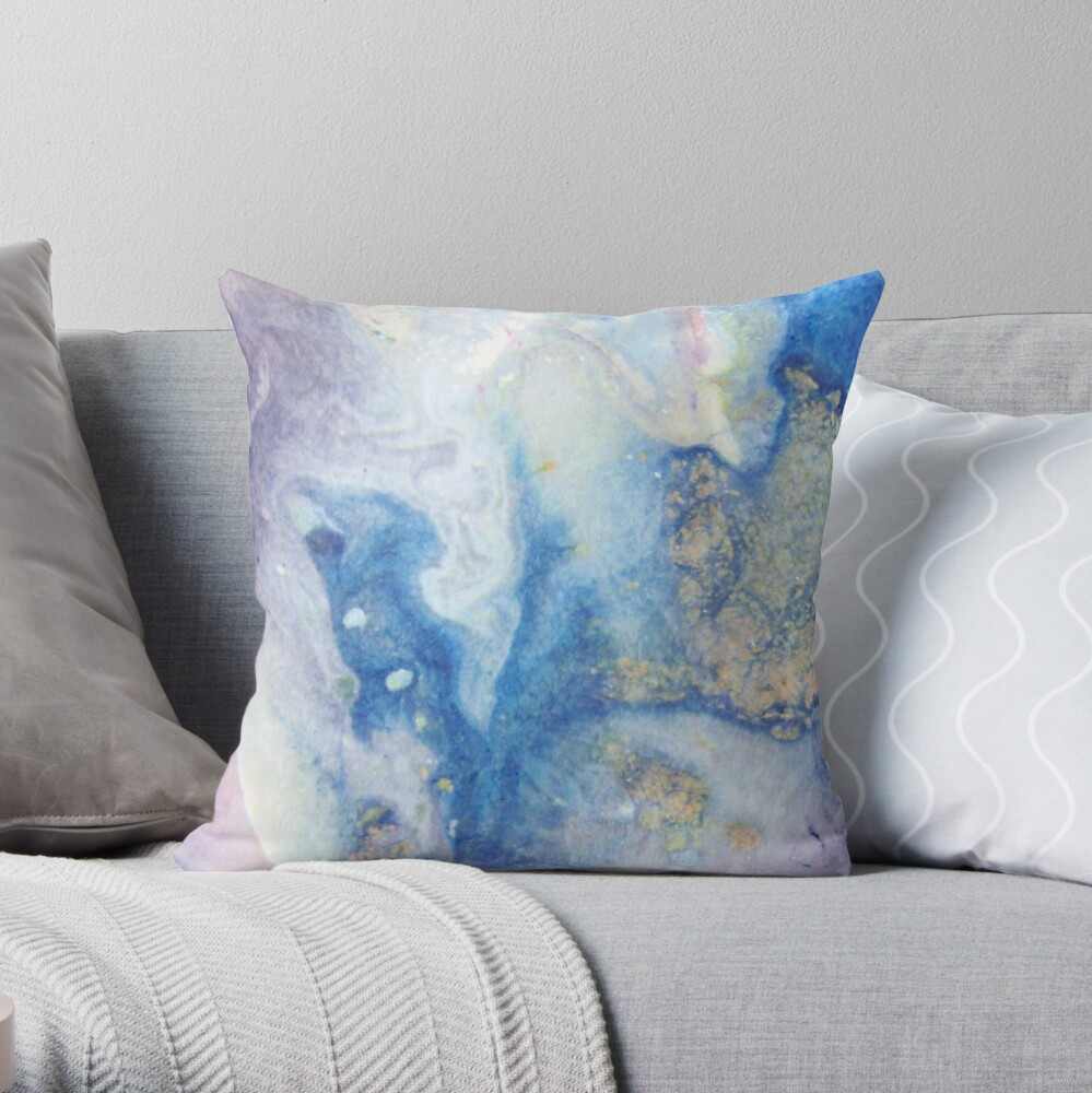Moon Marble Throw Pillow