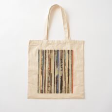 Classic Rock Vinyl Records  Cotton Tote Bag