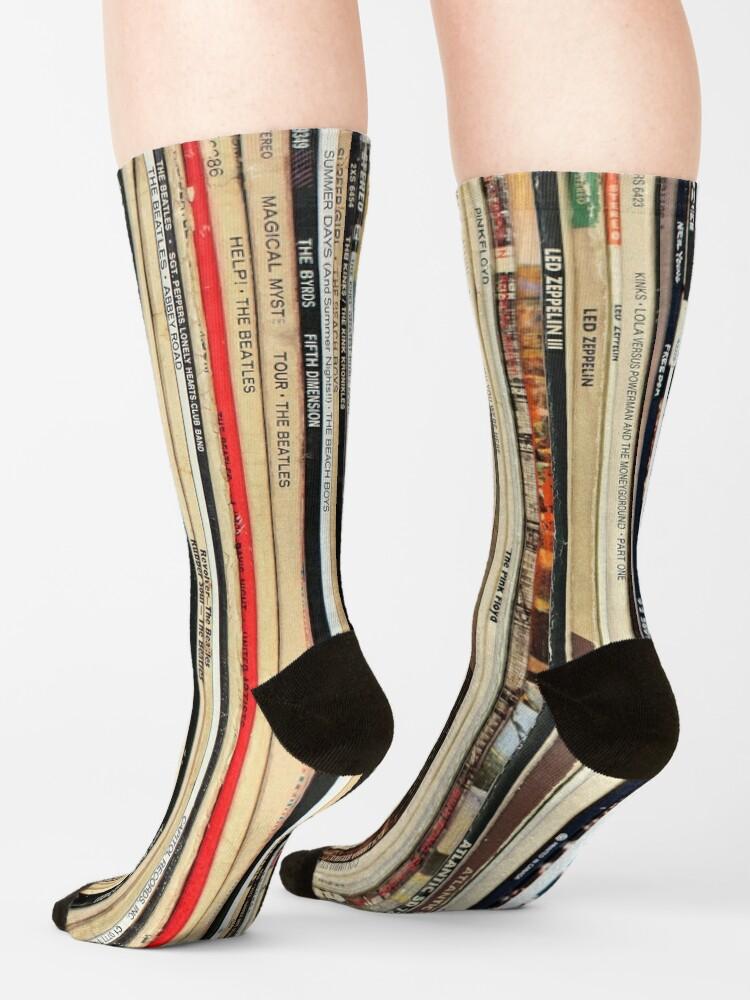 Alternate view of Classic Rock Vinyl Records  Socks