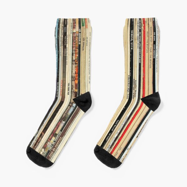 Classic Rock Vinyl Records  Socks