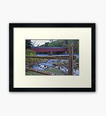 Cornwall Covered Bridge Framed Print
