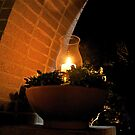 Candle Under The Archway by TJ Baccari Photography