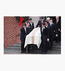 Elizabeth Edwards Funeral Service Photographic Print