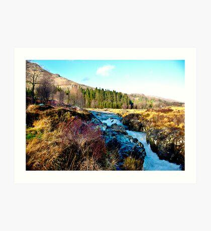 White Water on The River Duddon Art Print