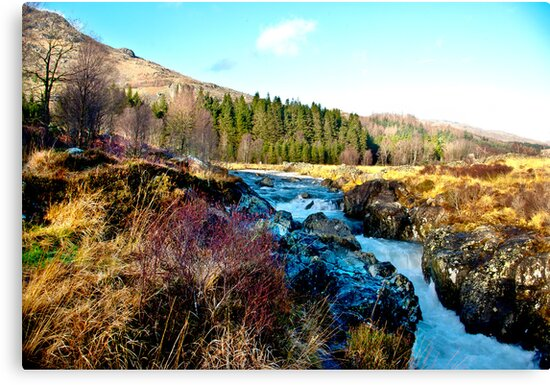 White Water on The River Duddon by Trevor Kersley
