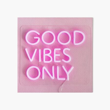 good vibes only pink Art Board Print