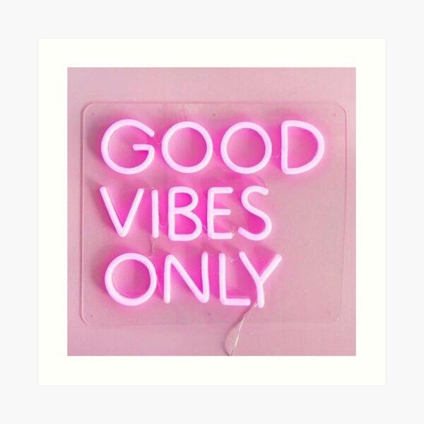 gute Stimmung nur rosa Kunstdruck