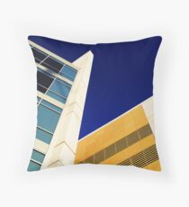 Highrise with Blue Sky Throw Pillow