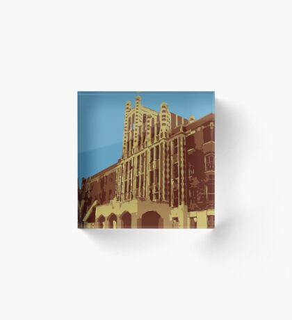 Waverly Hills Sanatorium Art Deco Acrylic Block