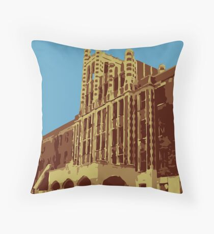Waverly Hills Sanatorium Art Deco Throw Pillow
