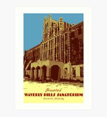 Waverly Hills Sanatorium Art Deco Art Print