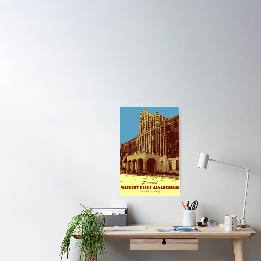 Waverly Hills Sanatorium Art Deco Poster