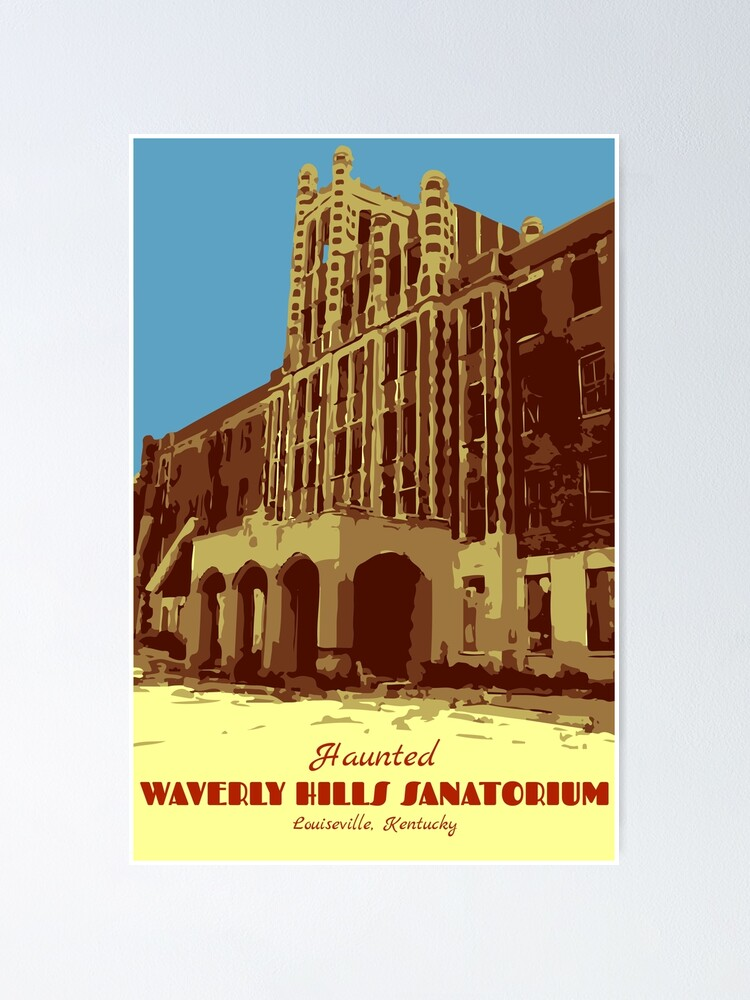 Alternate view of Waverly Hills Sanatorium Art Deco Poster