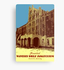 Waverly Hills Sanatorium Art Deco Metal Print