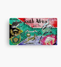 South Africa Doodle Canvas Print