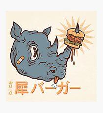 Rhino Burger Kanji Photographic Print