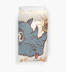 Rhino Burger Kanji Duvet Cover