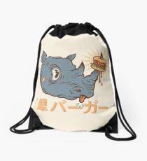 Rhino Burger Kanji Drawstring Bag