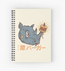 Rhino Burger Kanji Spiral Notebook