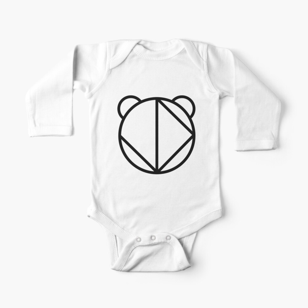 jd panda big logo panda outline with blue baby one piece by jd panda redbubble jd panda big logo panda outline with blue baby one piece by jd panda redbubble