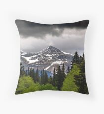 Black Cloud and a Pyramid Throw Pillow