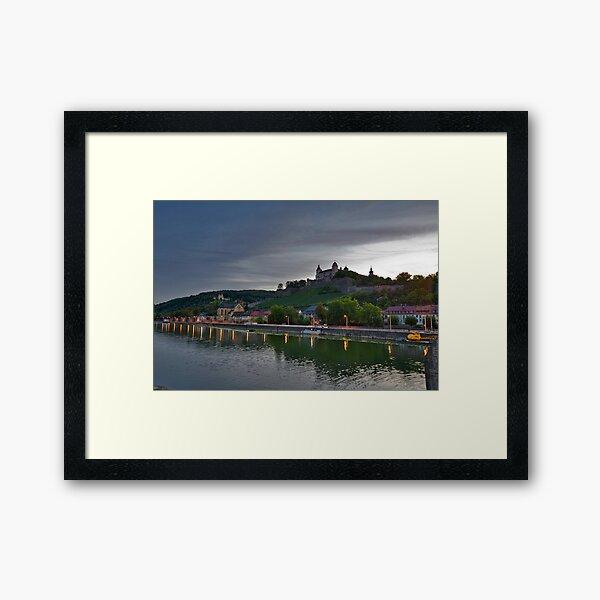 Wurzburg Germany Main River Framed Art Print