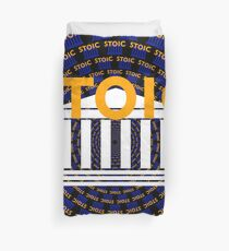 Stoic - Keep Stoic - Seek Happiness Duvet Cover