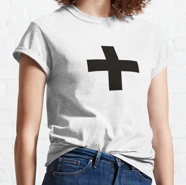 Crosses   Criss Cross   Swiss Cross   Hygge   Scandi   Plus Sign   Black and White    Classic T-Shirt