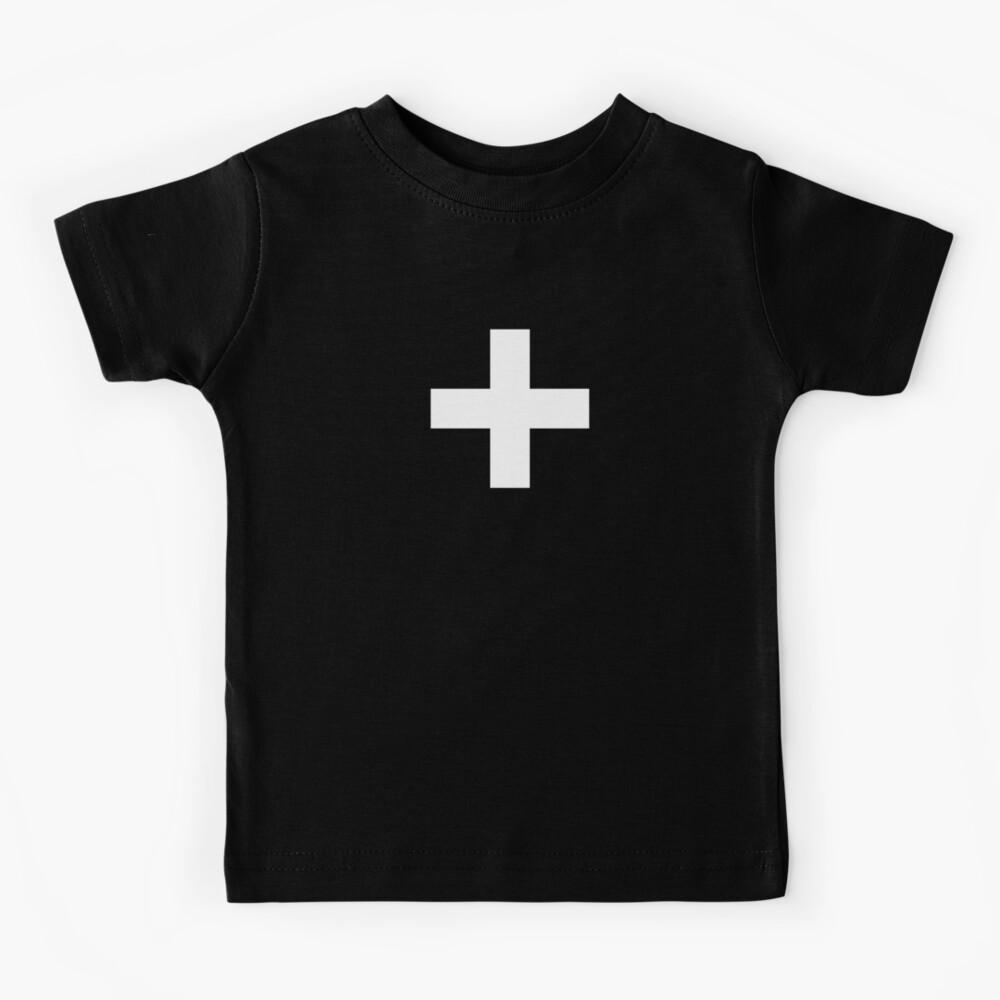 Crosses   Criss Cross   Swiss Cross   Hygge   Scandi   Plus Sign   Black and White    Kids T-Shirt